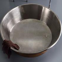 Freistehende Badewanne / rund / Kupfer