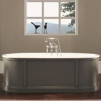Freistehende Badewanne / oval / aus Gusseisen