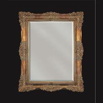 Wandmontierter Spiegel für Badezimmer / Stil / rechteckig / Metall