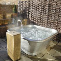 Freistehende Badewanne / quadratisch / Kupfer / Zinn