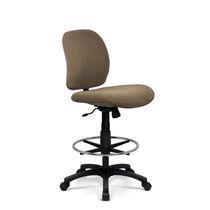 Leder-Bürohocker / Stoff / verstellbar / drehbar