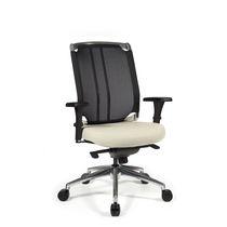 Moderner Sessel für Büro / Maschen / Leder / höhenverstellbar