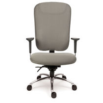 Moderner Sessel für Büro / Stoff / Leder / höhenverstellbar