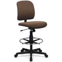 Stoff-Bürohocker / recyceltes Material / verstellbar / drehbar