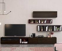Moderne Wohnwand / aus Eiche