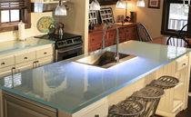 Glasarbeitsplatte / Küchen