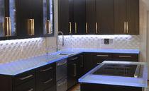 Glasarbeitsplatte / Küchen / antibakteriell / fleckenabweisend