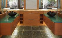 Glas-Waschtischplatte / für gewerbliche Einrichtungen / kundenspezifisch / wiederverwertet
