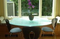 Moderner Tisch / Glas