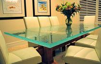 Moderner Tisch / Glas / quadratisch