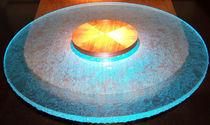Moderner Tisch / Glas / rund