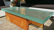 Moderner Tisch / Glas / rechteckig