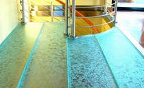 Glas-Bodenbelag / zur gewerblichen Nutzung / Privathäuser / Fliesen