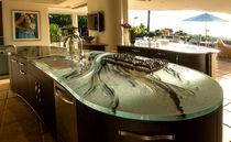 Glasarbeitsplatte / Küchen / fleckenabweisend / hitzebeständig