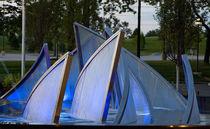 Park-Springbrunnen / Glas / Edelstahl