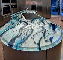 Glasarbeitsplatte / Küchen / hitzebeständig / originelles Design