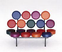 Polsterbank / originelles Design / Stahl / für öffentliche Einrichtungen / von Joe Colombo