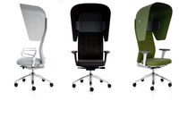 Moderner Bürostuhl / drehbar / mit Rollen / Polster