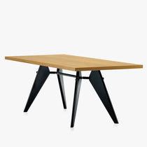 Moderner Tisch / Holzfurnier / rechteckig / von Jean Prouvé