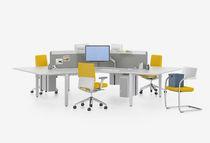 Schreibtisch für Open Space / Holz / modern / Gewerbe