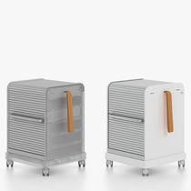 Metall-Büroschubladenschrank / Schiebetüren / auf Rollen / von Antonio Citterio