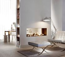 Gaskamin / modern / Geschlossene Feuerstelle / 2 Sichtseiten