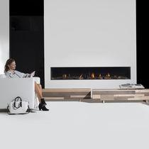 Gaskamin / modern / Einbau / Beton