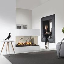 Gaskamin / modern / Geschlossene Feuerstelle / 3 Sichtseiten
