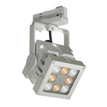 LED-Schienenleuchte / quadratisch / aus Aluminium / Gewerbe