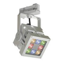 LED-RGB-Schienenleuchte / quadratisch / Aluminium / Gewerbe