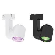 LED-RGB-Schienenleuchte / rund / ABS / für Geschäfte