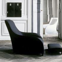 Moderner Sessel / Leder / mit Fußstütze / Bergère -Stil