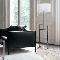 Lampe mit Fußgestell / modern / Stoff / Pergamentpapier