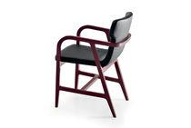 Moderner Stuhl / mit Armlehnen / aus Buche / Stoff