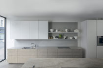 Moderne Küche / Holz / Quarz