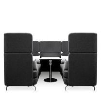 Modernes Sofa / Wolle / Leder / für öffentliche Einrichtungen