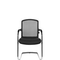 Moderner Besucherstuhl / Stapel / mit Überhang / mit Armlehnen