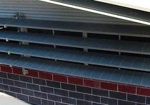 Aluminium-Sonnenschutzlamelle / für Fassade / horizontal