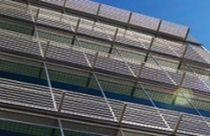 Aluminium-Sonnenschutzlamelle / für Fassade / erreichbar / horizontal