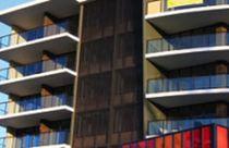 Fassadenverkleidung aus Aluminium / strukturiert / Platten