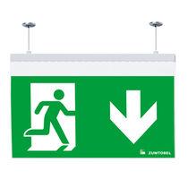 Notbeleuchtung für Aufbau / für Deckeneinbau / hängend / rechteckig
