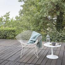 Moderner Sessel / Stahl / Kufen / mit abnehmbarem Kissen