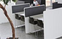 Schreibtisch Trennwand / für Theken / Stoff / Laminat