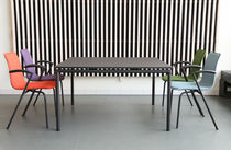Moderner Tisch / Laminat / Aluminium / rechteckig