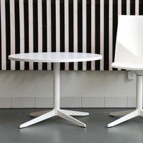 Moderner Tisch / Laminat / Aluminium / rund