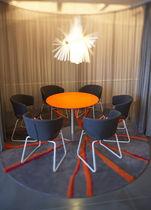 Moderner Teppich / aus Wolle / Rund / Motive