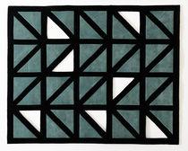 Moderner Teppich / Motive / Wolle / rechteckig