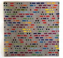 Moderner Teppich / aus Wolle / rechteckig / Streifen