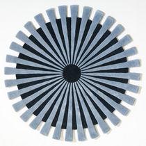 Moderner Teppich / Streifen / Wolle / rechteckig