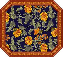 Traditioneller Teppich / aus Wolle / rechteckig / Motive